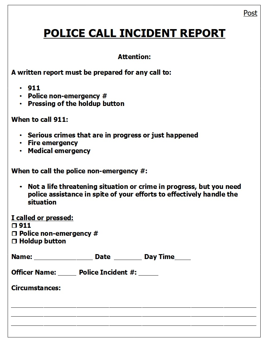 Image of Incident Report